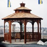 Photo of brown gazebo